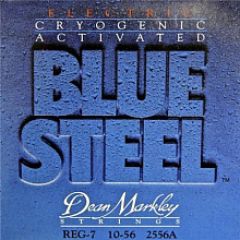 СТРУНЫ DEAN MARKLEY BLUE STEEL ELECTRIC 2556A REG-7